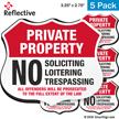 No Soliciting Loitering Trespassing Shield Label Set