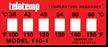 Non-Reversible Temperature Indicator Labels 100-150°F/38-66°C