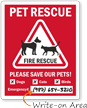 Pet Fire Rescue Window Decal