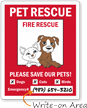 Please Save Our Pets Window Decal