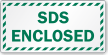 SDS Enclosed Striped Border Label