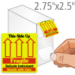 Delicate This Side Up Fragile Grab-a-Label Dispenser Box