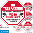 Trespassers Will Be Prosecuted No Trespassing Label Set