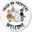 Trick Or Treaters Welcome Decal