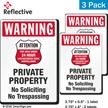 Warning No Trespassing 24 Hour Surveillance Label Set