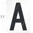 3.5 Inch Tall Vinyl Letter A Black On White