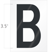 3.5 Inch Tall Vinyl Letter B Black On White