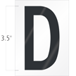 3.5 Inch Tall Vinyl Letter D Black On White