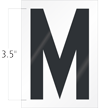 3.5 Inch Tall Vinyl Letter M Black On White