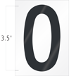 3.5 Inch Tall Vinyl Letter O Black On White