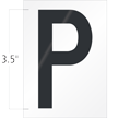 3.5 Inch Tall Vinyl Letter P Black On White