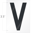 3.5 Inch Tall Vinyl Letter V Black On White