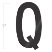 Die-Cut 1 Inch Tall Vinyl Letter Q Black