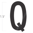 Die-Cut 1.5 Inch Tall Vinyl Letter Q Black