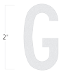 Die-Cut 2 Inch Tall Reflective Letter G White
