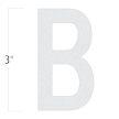 Die-Cut 3 Inch Tall Reflective Letter B White