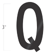Die-Cut 3 Inch Tall Vinyl Letter Q Black