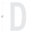 Die-Cut 4 Inch Tall Reflective Letter D White