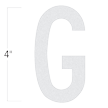 Die-Cut 4 Inch Tall Reflective Letter G White