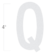 Die-Cut 4 Inch Tall Reflective Letter Q White