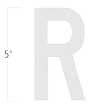 Die-Cut 5 Inch Tall Reflective Letter R White