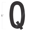 Die-Cut 6 Inch Tall Vinyl Letter Q Black