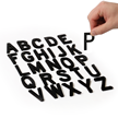 Die-Cut Black Magnetic Letters Set - 2