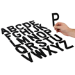 Die-Cut Black Magnetic Letters Set - 4
