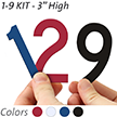 3 inch Die-Cut Magnetic Number Kit, 4 Colors