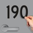 Die-Cut Magnetic Numbers 4 Inch Tall Black