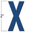2 inch Die-Cut Magnetic Letter - X, Blue