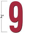 2 inch Die-Cut Magnetic Number - 9, Red