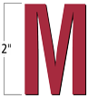 2 inch Die-Cut Magnetic Letter - M, Red