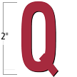 2 inch Die-Cut Magnetic Letter - Q, Red