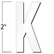 2 inch Die-Cut Magnetic Letter - K, White