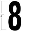 3 inch Die-Cut Magnetic Number - 8, Black
