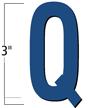 3 inch Die-Cut Magnetic Letter - Q, Blue