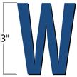 3 inch Die-Cut Magnetic Letter - W, Blue