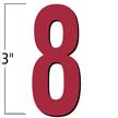 3 inch Die-Cut Magnetic Number - 8, Red