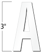3 inch Die-Cut Magnetic Letter - A, White
