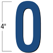 4 inch Die-Cut Magnetic Letter - O, Blue