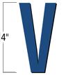 4 inch Die-Cut Magnetic Letter - V, Blue