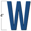 4 inch Die-Cut Magnetic Letter - W, Blue