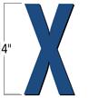 4 inch Die-Cut Magnetic Letter - X, Blue