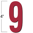 4 inch Die-Cut Magnetic Number - 9, Red