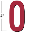 4 inch Die-Cut Magnetic Letter - O, Red