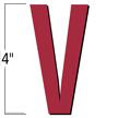 4 inch Die-Cut Magnetic Letter - V, Red