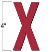 4 inch Die-Cut Magnetic Letter - X, Red