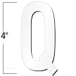 4 inch Die-Cut Magnetic Letter - Q, White