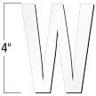 4 inch Die-Cut Magnetic Letter - W, White